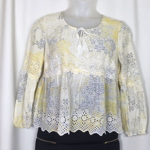 Style & Co. petite, embroidered top, Size PM.